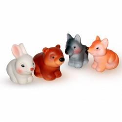 Резиновая игрушка «Набор. Лесные звери», Огонек