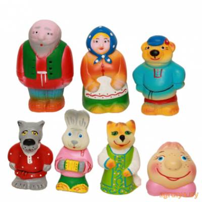 Набор резиновых игрушек Колобок, Кудесники от Кудесники в Минске фото