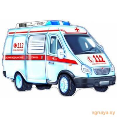 Плакат Вырубной мини «Машина скорой помощи», ТЦ СФЕРА от ТЦ СФЕРА в Минске фото