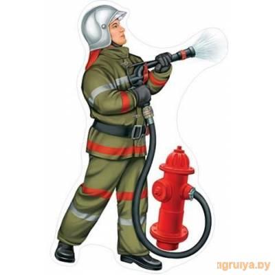 Плакат Вырубной «Пожарный», Мир открыток от Мир открыток в Минске фото